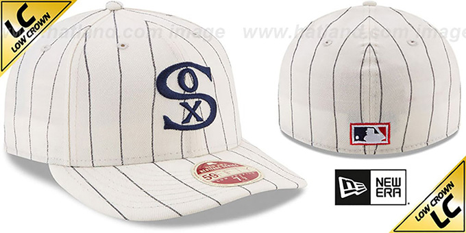 White Sox 'LOW-CROWN VINTAGE' Fitted Hat by New Era