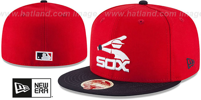 3ce7fa393f0d3 ... White Sox 'MLB COOPERSTOWN WOOL-STANDARD' Red-Navy Fitted Hat by New ...