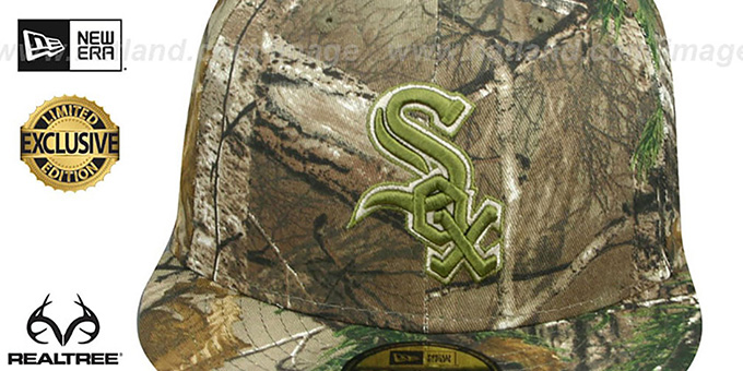 White Sox 'MLB TEAM-BASIC' Realtree Camo Fitted Hat by New Era