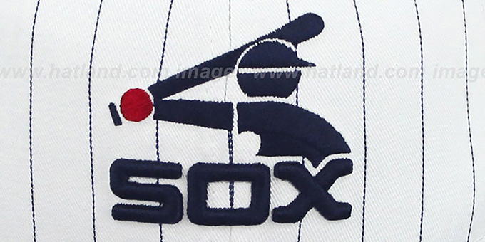 White Sox 'PINSTRIPE BITD SNAPBACK' White-Navy Hat by New Era