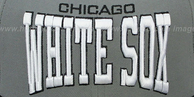 White Sox 'PRO-ARCH' Grey-Black Fitted Hat by New Era