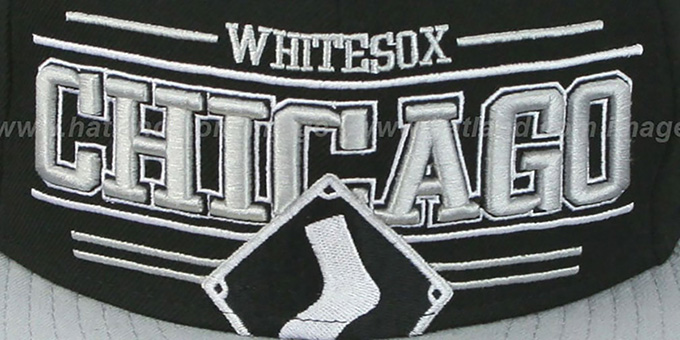 White Sox 'RETRO-SMOOTH' Black-Grey Fitted Hat by New Era