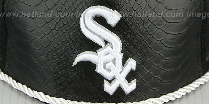 White Sox 'SNAKE A-FRAME SNAPBACK' Black-Grey Hat by New Era