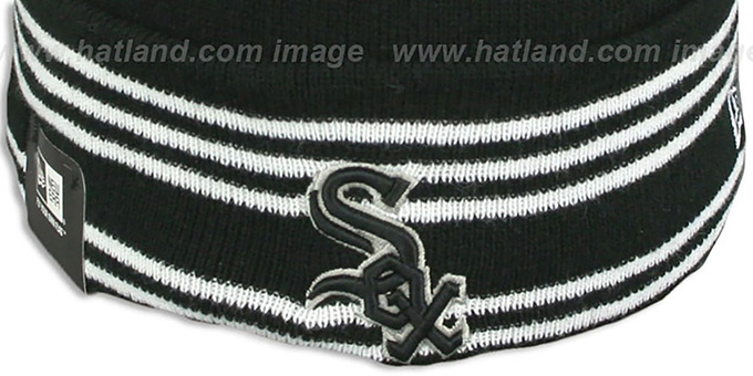 White Sox 'SPORT-KNIT' Black-Black Beanie Hat by New Era