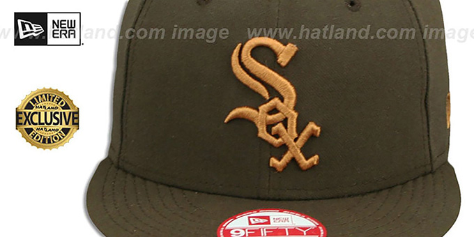 White Sox 'TEAM-BASIC SNAPBACK' Brown-Wheat Hat by New Era