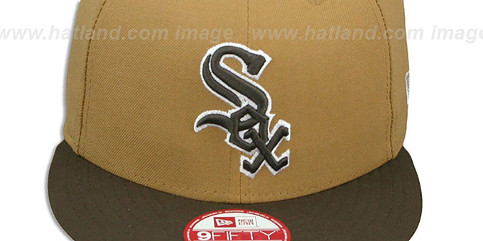 White Sox 'TEAM-BASIC SNAPBACK' Wheat-Brown Hat by New Era