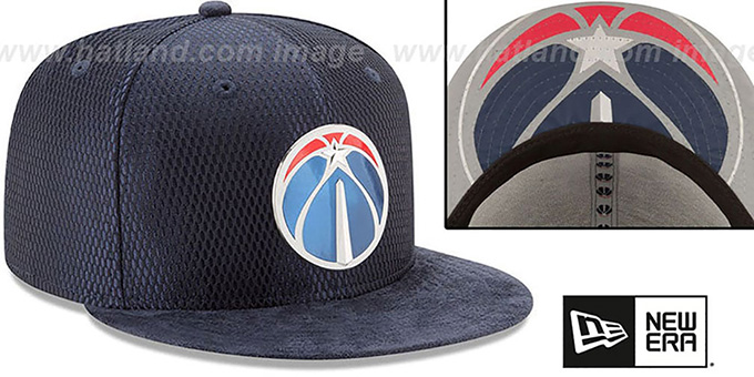 Wizards '2017 ONCOURT DRAFT' Navy Fitted Hat by New Era