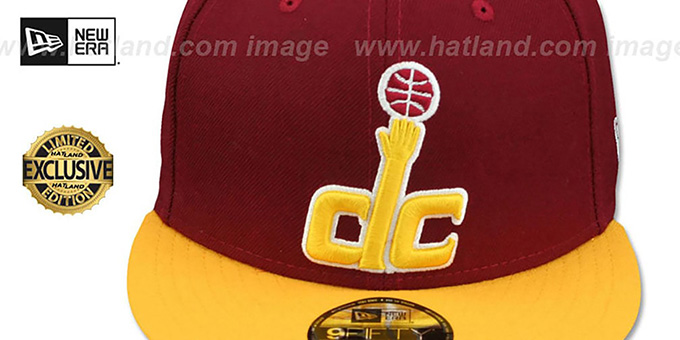 Wizards '2T OPPOSITE-TEAM' SNAPBACK Burgundy-Gold Hat by New Era