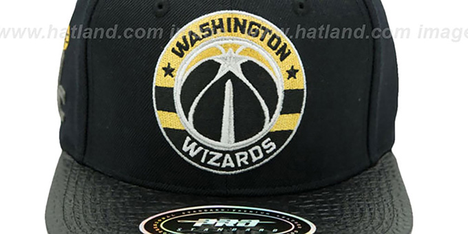 Wizards 'TEAM-CIRCLE STRAPBACK' Black Hat by Pro Standard