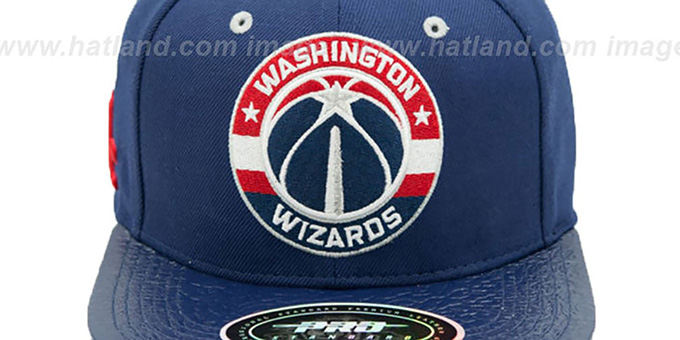 Wizards 'TEAM-CIRCLE STRAPBACK' Navy Hat by Pro Standard
