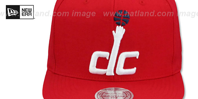 Wizards 'XL-LOGO SNAPBACK' Red Hat by Mitchell and Ness
