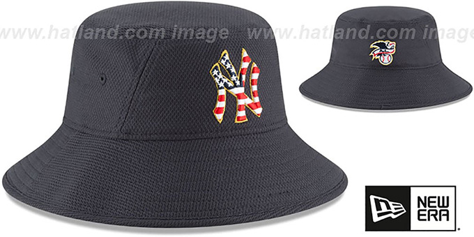 Yankees '2018 JULY 4TH STARS N STRIPES BUCKET' Navy Hat by New Era