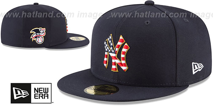 2d9c1bf0d67d6 ... Yankees  2018 JULY 4TH STARS N STRIPES  Navy Fitted Hat by New Era ...