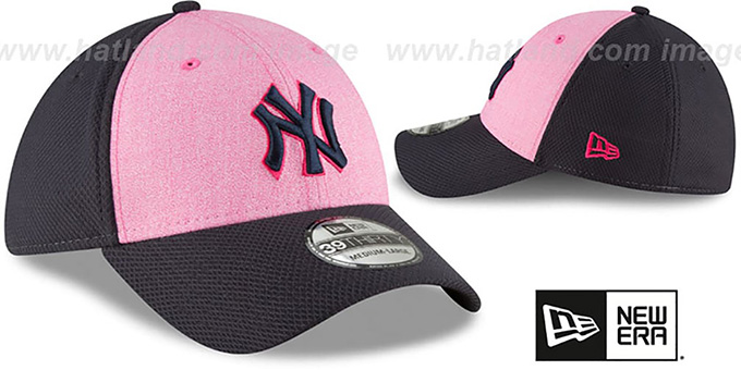 11698bcccb1b79 ... Yankees  2018 MOTHERS DAY FLEX  Pink-Navy Hat by New Era ...