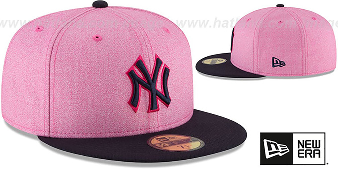 ... Yankees  2018 MOTHERS DAY  Pink-Navy Fitted Hat by New Era ... 870fcfd2a960