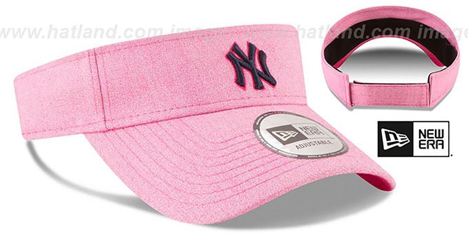 Yankees '2018 MOTHERS DAY VISOR' Heather Pink by New Era