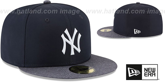 f1758820ea96aa ... Yankees '2018 PROLIGHT-BP' ROAD Navy-Grey Fitted Hat by New Era ...