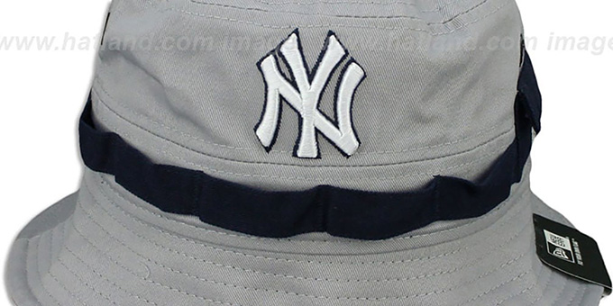 Yankees 'ADVENTURE' Grey Bucket Hat by New Era