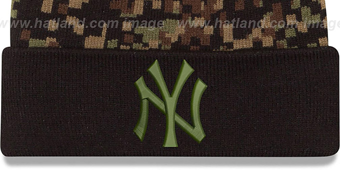 Yankees 'ARMY CAMO PRINT-PLAY' Knit Beanie Hat by New Era