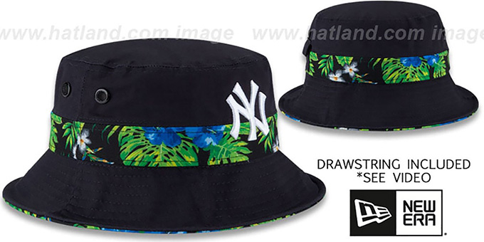 Yankees 'BLOOM SUB-BANDED' Navy Bucket Hat by New Era