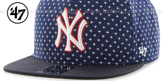 Yankees 'CROSSBREED SNAPBACK' Navy Hat by Twins 47 Brand