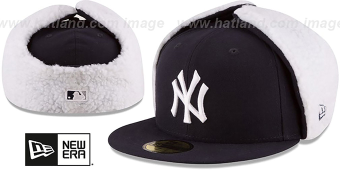 Yankees 'FLURRY-FIT DOGEAR' Navy Fitted Hat by New Era