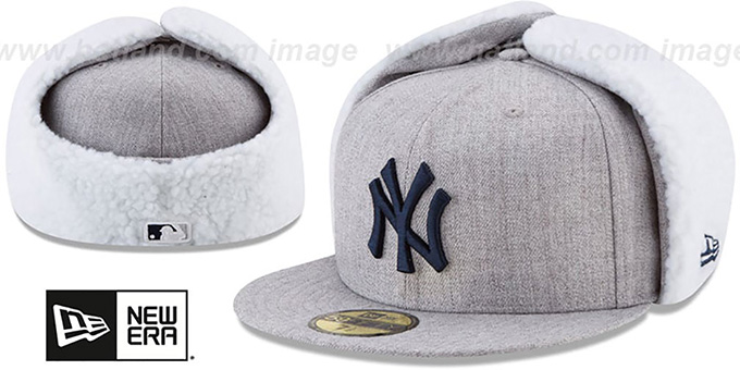 Yankees 'HEATHER-DOGEAR' Light Grey Fitted Hat by New Era