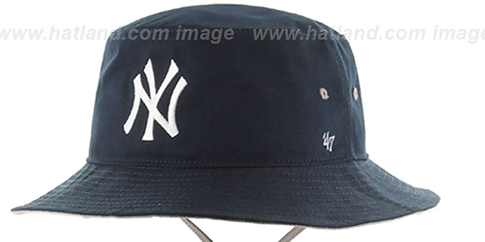 Yankees 'KIRBY BUCKET' Navy Hat by Twins 47 Brand