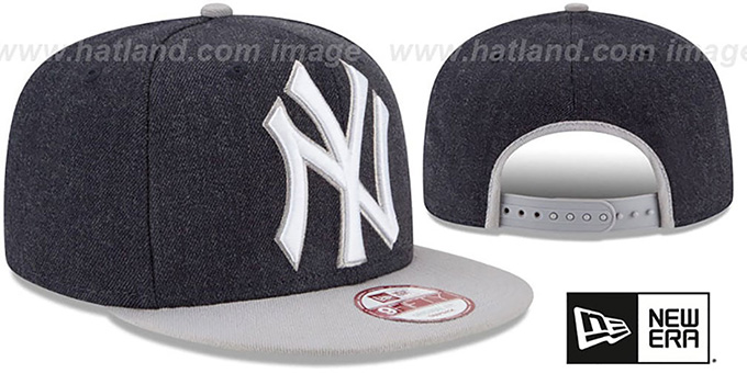 Yankees 'LOGO GRAND SNAPBACK' Navy-Grey Hat by New Era