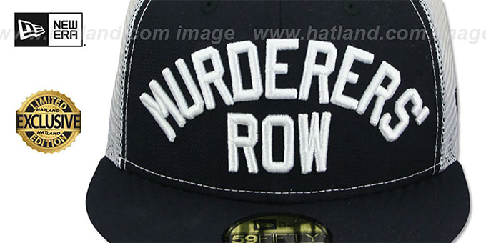 Yankees 'MURDERERS ROW' MESH-BACK Navy-White Fitted Hat by New Era