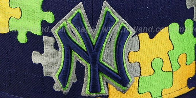 Yankees 'PUZZLE' Navy-Gold Fitted Hat by New Era