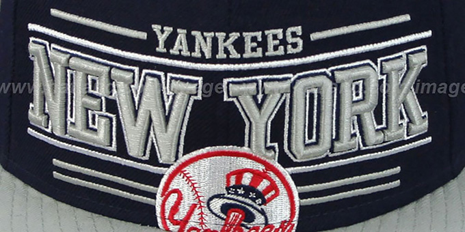 Yankees 'RETRO-SMOOTH' Navy-Grey Fitted Hat by New Era