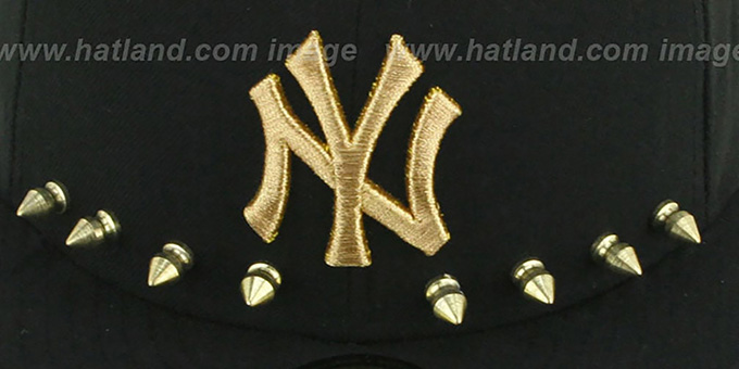 Yankees 'STUD-POP' Black Fitted Hat by New Era