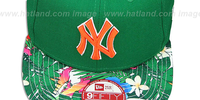 Yankees 'SUNSHINE BLOOM SNAPBACK' Green-Multi Hat by New Era