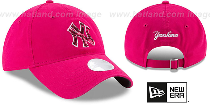 Yankees 'WOMENS MOTHERS DAY GLIMMER STRAPBACK' Pink Hat by New Era