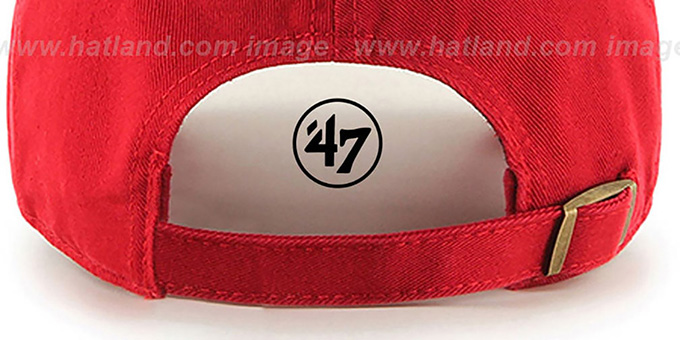 47 'BLANK CLASSIC STRAPBACK' Red Adjustable Hat