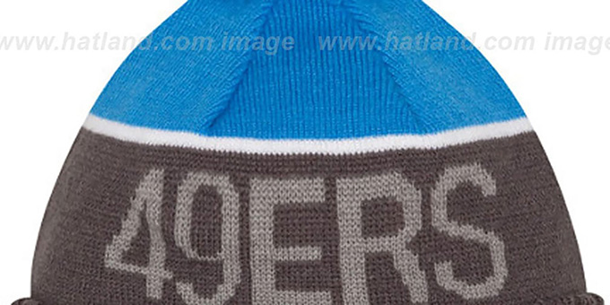 49ers '2015 STADIUM' Charcoal-Blue Knit Beanie Hat by New Era