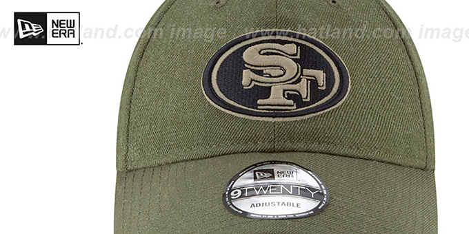 49ers '2018 SALUTE-TO-SERVICE STRAPBACK' Olive Hat by New Era