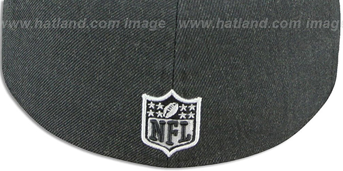 49ers '2T-HEATHER' Charcoal-Red Fitted Hat by New Era