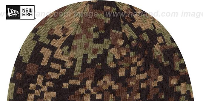 4bbf9292618ef ... 49ers  ARMY CAMO PRINT-PLAY  Knit Beanie Hat by New Era