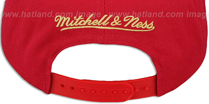 49ers 'BLOCK-ARCH SNAPBACK' Red Hat by Mitchell & Ness