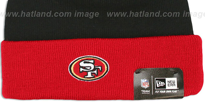 49ers 'BUTTON-UP' Knit Beanie Hat by New Era