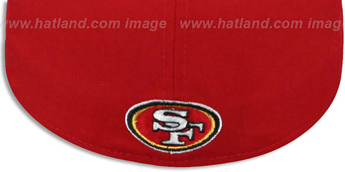 49ers 'CIRCLE-CLOSER' Red-Black Fitted Hat by New Era