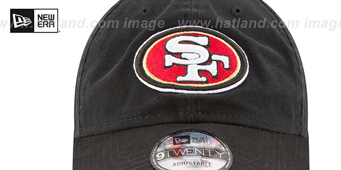 49ers 'CORE-CLASSIC STRAPBACK' Black Hat by New Era