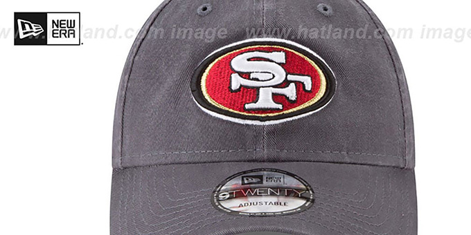 49ers 'CORE-CLASSIC STRAPBACK' Charcoal Hat by New Era