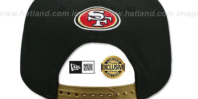 0dc6ffe65 ... 49ers 'GOLD METAL-BADGE SNAPBACK' Black Hat by New Era ...