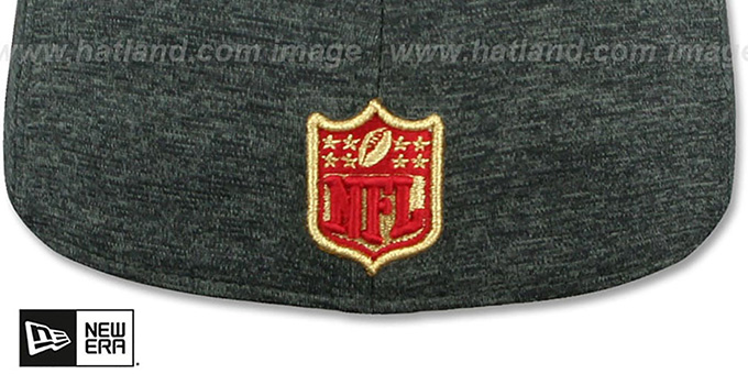 49ers 'HEATHER-HUGE' Grey-Black Fitted Hat by New Era