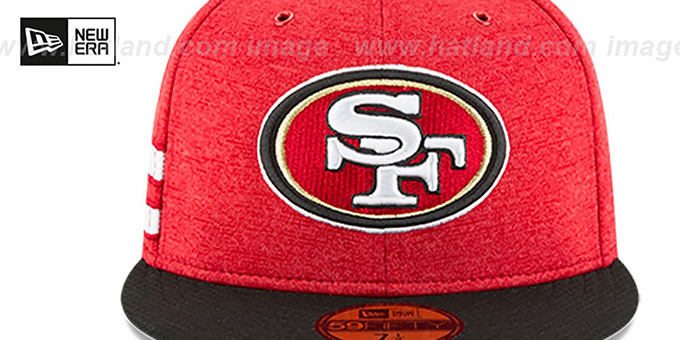 49ers 'HOME ONFIELD STADIUM' Red-Black Fitted Hat by New Era