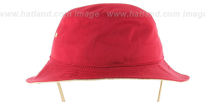 49ers 'KIRBY BUCKET' Red Hat by Twins 47 Brand