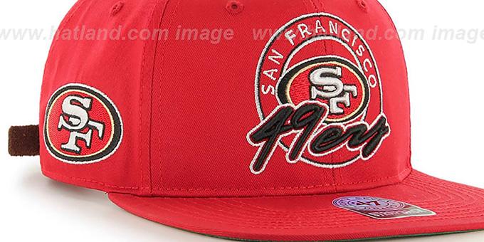af0ead8d ... 49ers 'NFL VIRAPIN STRAPBACK' Red Hat by Twins 47 Brand ...